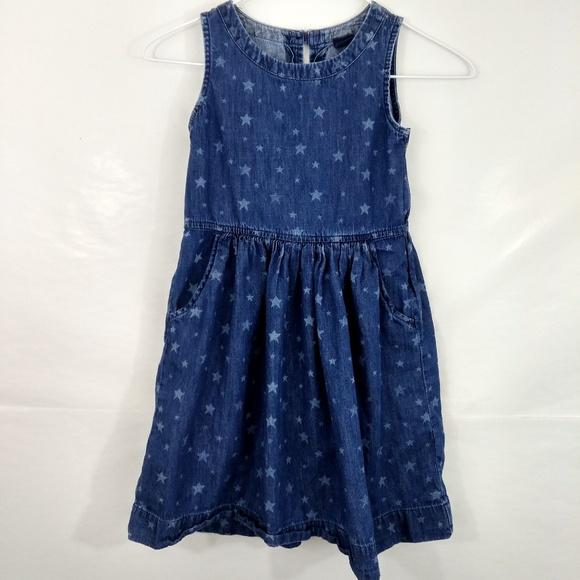 1bb88874d Gap Dresses | Little Girls Medium Star Print Denim Dress | Poshmark